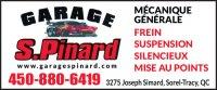 Emplois chez Garage S. Pinard/Remorquage JMS